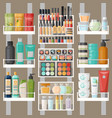 cosmetic and bathroom products woman cosmetic vector image