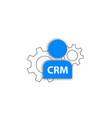 crm icon customer method service vector image