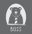 cute bear hand drawn sketch t-shirt print design vector image vector image