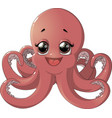 cute octopus cartoon vector image
