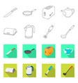 design of kitchen and cook icon set of vector image vector image