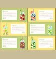 detox diet drink pages set vector image vector image