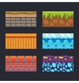 Different Materials and Textures for the Game vector image vector image