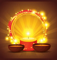 diwali candles to hindu lights festival vector image