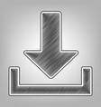 download sign pencil sketch vector image vector image