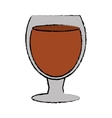 drawing glass cocktail drink design style vector image vector image