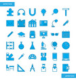 education and learning blue icons set style vector image vector image