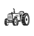 farmers tractor design element for label emblem vector image