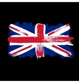 Flag of Great Britain on a black background vector image vector image