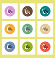 flat icons halloween set of moon and stars concept vector image vector image