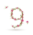 Floral number nine for your design vector image vector image