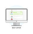 Freelance Best Offer Icon vector image