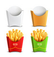 french fries 2x2 design concept vector image vector image