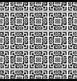 geometric abstract greek seamless pattern black vector image vector image