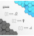 geometric business infographic template vector image vector image