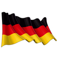 germany national flag vector image vector image