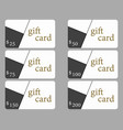 gift cards in the style of material design vector image vector image