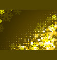 gold snowflakes background vector image vector image