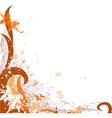 Grunge Autumn Floral Design vector image vector image