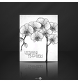 Hand Drawing Orchid Flower vector image vector image