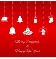 hanging christmas symbols vector image vector image