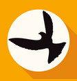 icon dove of peace on white circle with a long vector image