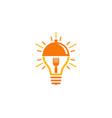 idea food logo icon design vector image vector image