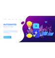 innovative battery technology concept landing page vector image vector image