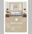 Interior design Modern bedroom banner 7 vector image