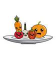 isolated kawaii vegetables design vector image