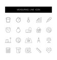 line icons set measuring pack vector image vector image
