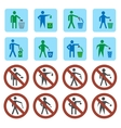 Litter icons set vector image vector image
