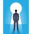 Looking through the keyhole business concept vector image