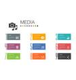 media infographic 10 option line conceptnews vector image