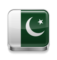 Metal icon of Pakistan