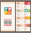 modern menu template vector image vector image