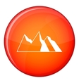 Mountains icon flat style vector image vector image