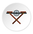 movable circular saw icon circle vector image vector image