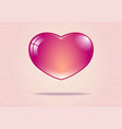 pink heart on the pink background with white heart vector image vector image
