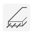 pre-stress concrete slab icon design on white vector image vector image