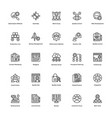 project management line icons set 23
