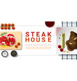 raw fresh meat and grilled meat rib eye steak vector image vector image