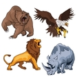 Safari terrifying feline lion with tail and vector image vector image