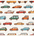 seamless pattern with cars various body vector image