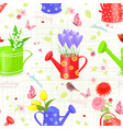 seamless texture with fresh bouquets of flowers vector image