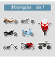 Set of elements motorcycles for creating your own vector image vector image