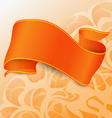 Single orange ribbon with straights vector image