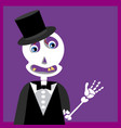 skull with tuxedo suit vector image vector image