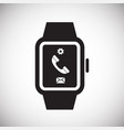 smart watch on white background for graphic and vector image