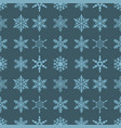 snowflake seamless pattern merry christmas and vector image